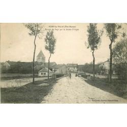52 PONT-LA-VILLE. Cycliste Route d'Orges 1918