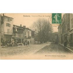 13 GARDANNE. Cours et Place de Guédan 1907