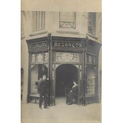 PARIS XVI. Boulangerie Besançon angle Rue Spontini et Général Appert. La deuxième photo est de nos jours à titre comparatif...