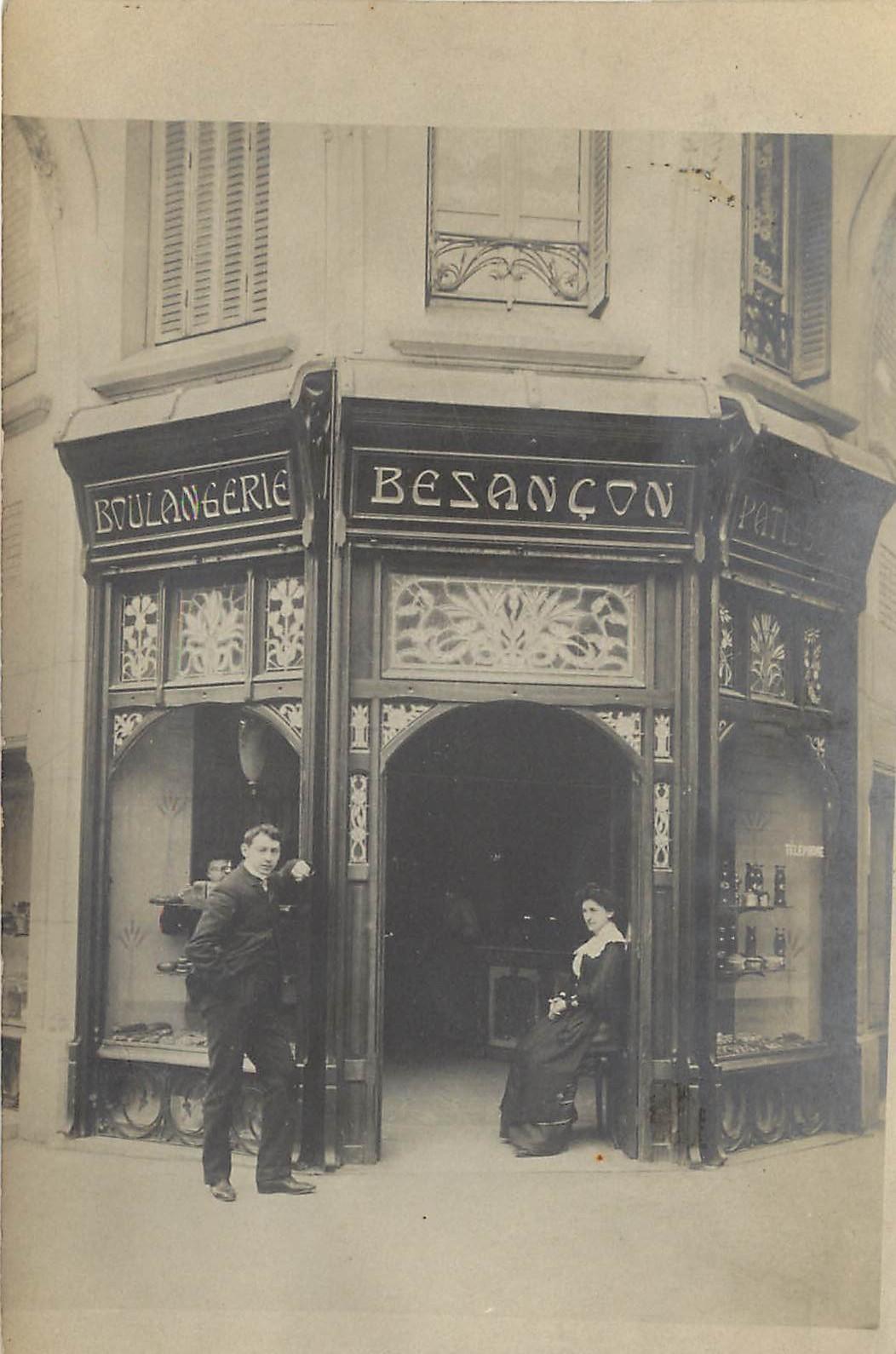 PARIS XVI. Boulangerie Besançon angle Rue Spontini et Général Appert
