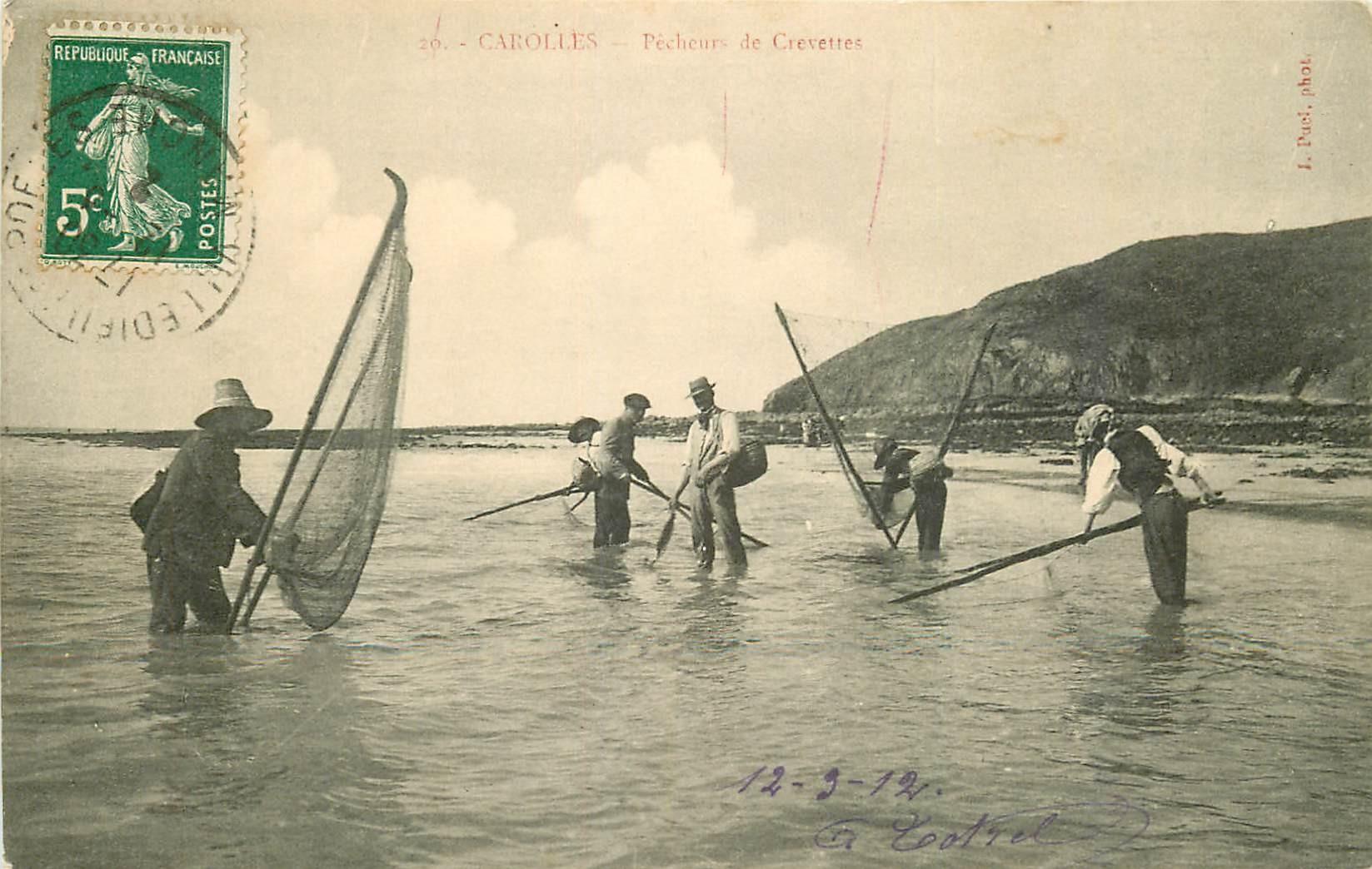 50 CAROLLES. Pêcheurs de Crevette 1912