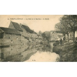 71 PARAY-LE-MONIAL. Facteur sur les Bords de la Bourbince et le Moulin