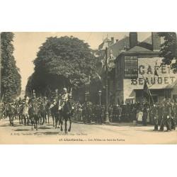 08 CHARLEVILLE. Café Beaudet Jour de Revue sur les Allées