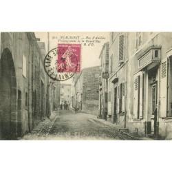 63 BEAUMONT. Café Restaurant rue d'Aubière sur Grand'Rue 1921