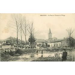 88 SERCOEUR. Pont et Entrée du Village 1916