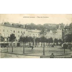 07 ANNONAY. Café Parisien Place des Cordeliers 1930