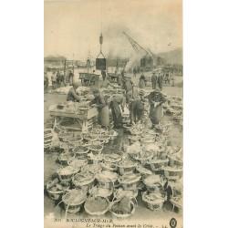 62 BOULOGNE-SUR-MER. Le Triage du Poisson avant la Criée 1916