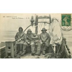 62 BERCK-PLAGE. Types de Pêcheurs 1920