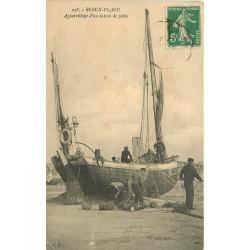 62 BERCK-PLAGE. Appareillage d'un Bateau de Pêche