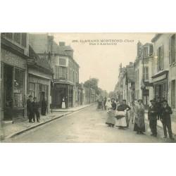 18 SAINT-AMAND-MONTROND. Magasin de cartes postales rue d'Austerlitz 1917