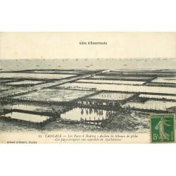 35 CANCALE. Les Parcs à Huîtres 1917 et les Bateaux de Pêche au loin