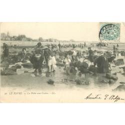 76 LE HAVRE. La Pêche aux Crabes 1903