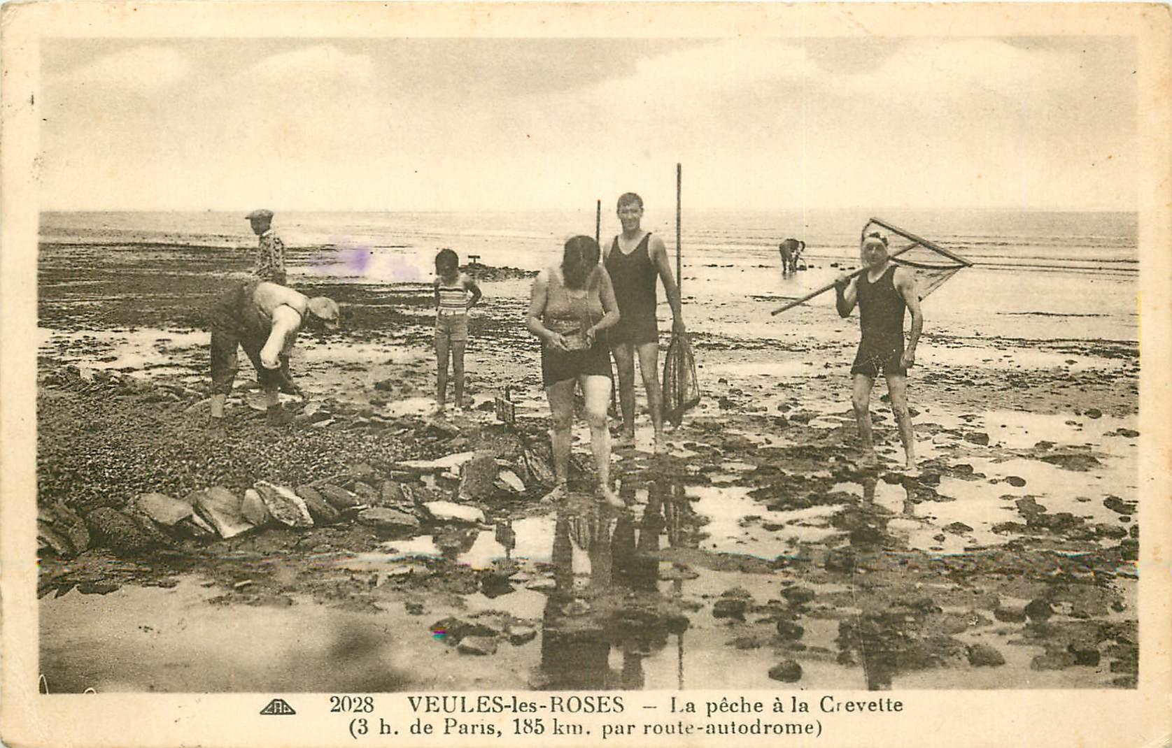 76 VEULES-LES-ROSES. La Pêche à la Crevette 1936