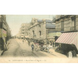 93 SAINT-DENIS. Le Marché rue de Paris 1906