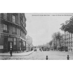94 NOGENT SUR MARNE. Banque Société Générale Rue et Pont de Mulhouse 1923