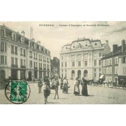 89 AUXERRE. Banque Caisse d'Epargne et Société Générale 1913