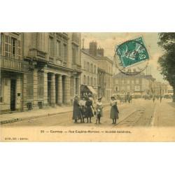 51 EPERNAY. Banque Société Générale rue Eugène Mercier. Carte toilée 1911