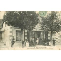 21 CHATILLON-SUR-SEINE. Vente de cartes postales au Café Restaurant Avenue de la Gare 1907