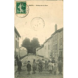 88 CHATEL. Nombreux Enfants Avenue de la Gare 1912 avec Café des Promenades