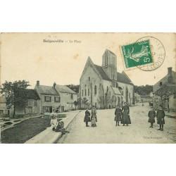 91 BOIGNEVILLE. Animation sur la Place 1913