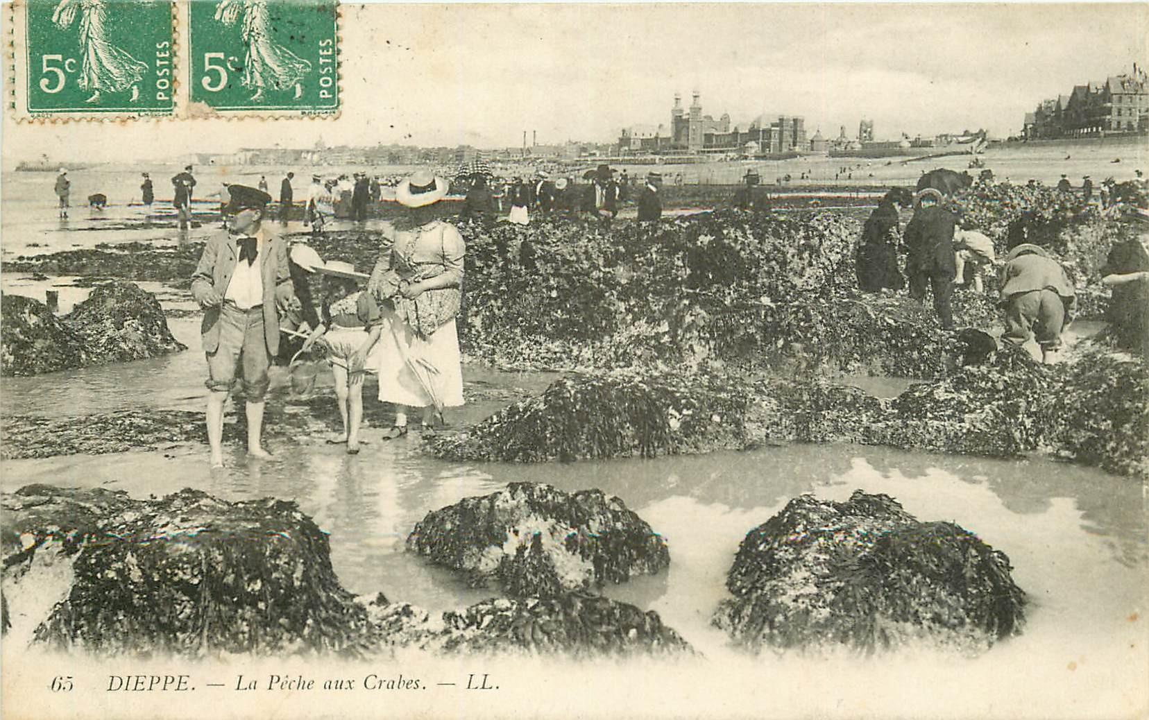 76 DIEPPE. La Pêche aux Crabes 1909