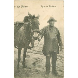 LA PANNE. Type de Pêcheur avec son Cheval en Belgique