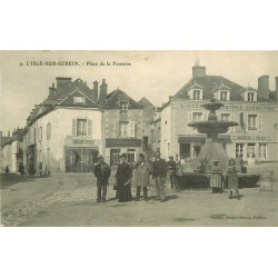 89 L'ISLE-SUR-SEREIN. Boulangerie Müller sur Place de la Fontaine 1906