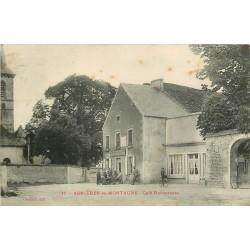 21 ASNIERES-EN-MONTAGNE. Café Rebourseau 1906