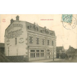 21 ARNAY-LE-DUC. Hôtel Restaurant Terminus 1906