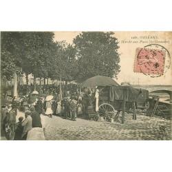 """45 ORLEANS. Le Marché aux Puces """" Le Guenaire """" 1906"""