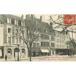 21 BEAUNE. Banque Société Générale et Café du Centre rue Carnot Place Monge 1919