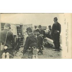 MILITARIA. Campagne de 1914 Artillerie Française Pièce de 75 m/m en action