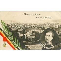 BELGIQUE. Honneur et Gloire à la Ville de Liège avec le Roi Albert
