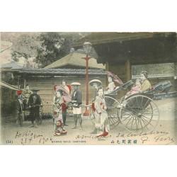 Japon Japan. SINGING GIRLS YOKOHAMA 1906 sur Pousse-Pousse