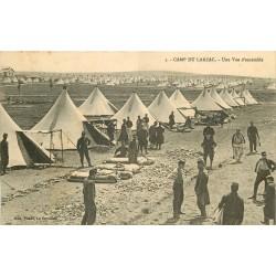 12 CAMP DU LARZAC. Vue d'ensemble sur les tentes des Militaires 1911