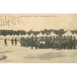 10 CAMP DE MAILLY. Général passant l'Artillerie en Revue 1909