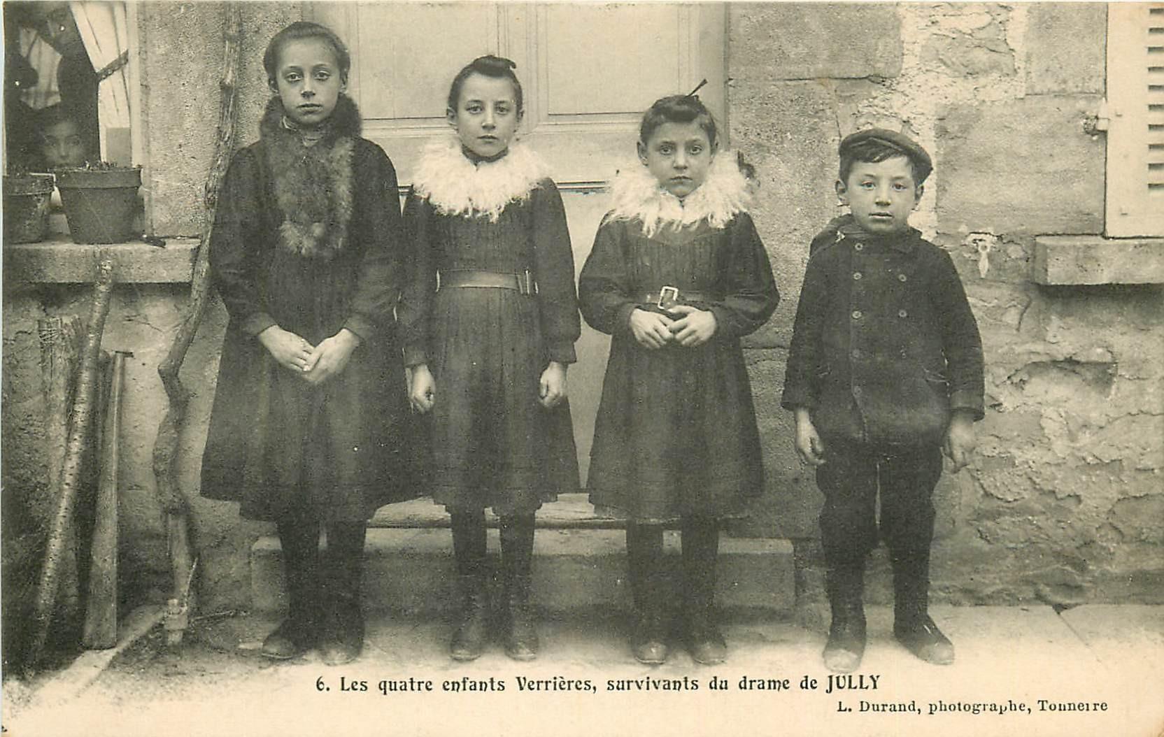 89 LE CRIME DE JULLY. Les quatre enfants Verrières survivants du drame
