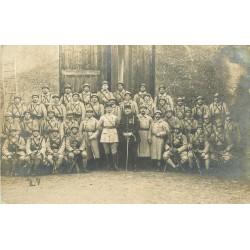 MILITARIA. Photo carte postale des Poilus à la Caserne du 63° Régiment d'Infanterie