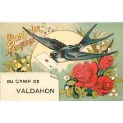 25 CAMP DE VALDAHON. Bonjour affectueux porté par une Hirondelle 1928