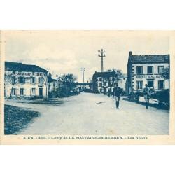 63 CAMP DE LA FONTAINE-DU-BERGER. Hôtel, Café et Auberge du Soleil 1930