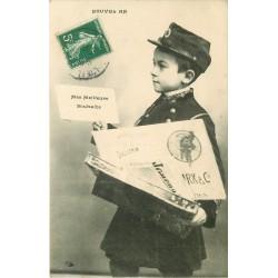 FANTAISIE. Un jeune Facteur pour le Nouvel An vers 1908...