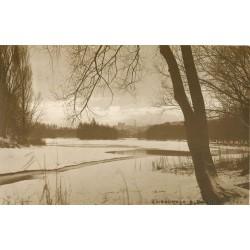 Photo Cpa 69 LYON. Le Lac gelé en Hiver par Boissonnas à Mangin vers 1907