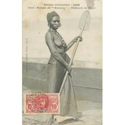 3 Cpa SOUDAN MALI. Femme Somono Pêcheurs, Les Mares Mosquée et laveuses bords du Niger