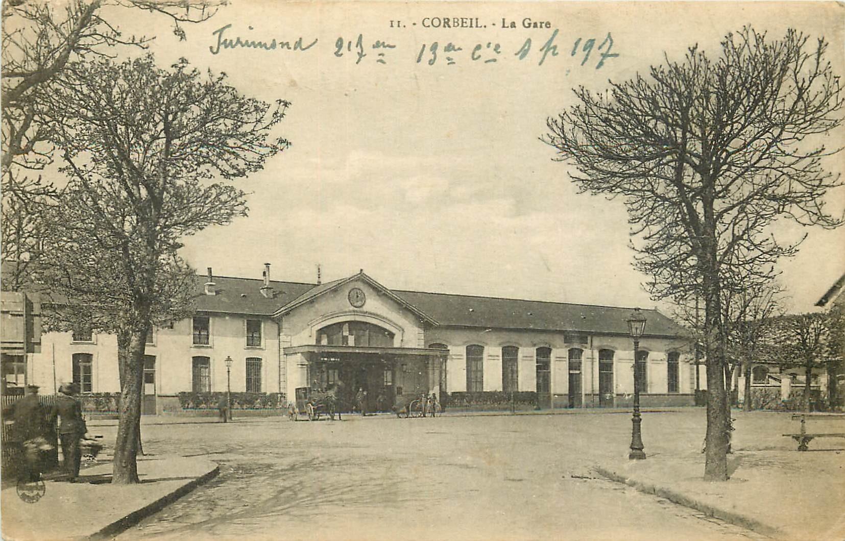 91 CORBEIL ESSONNES. La Gare 1918