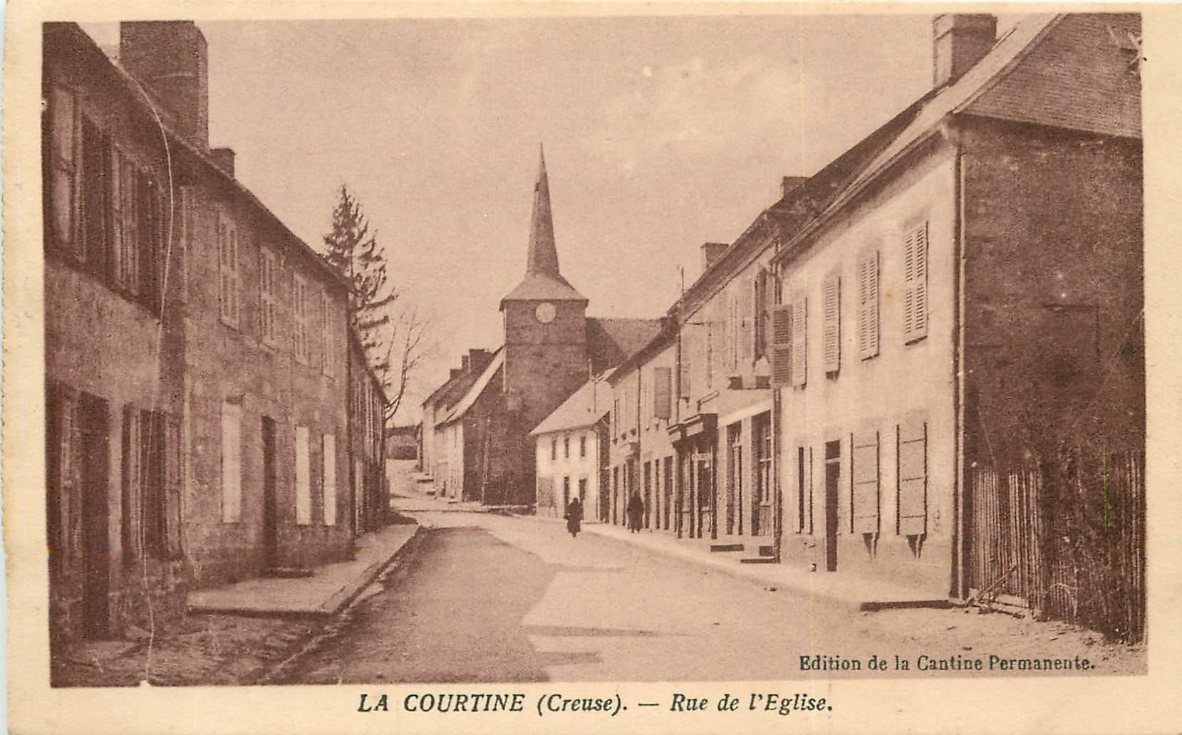 23 LA COURTINE. Rue de l'Eglise