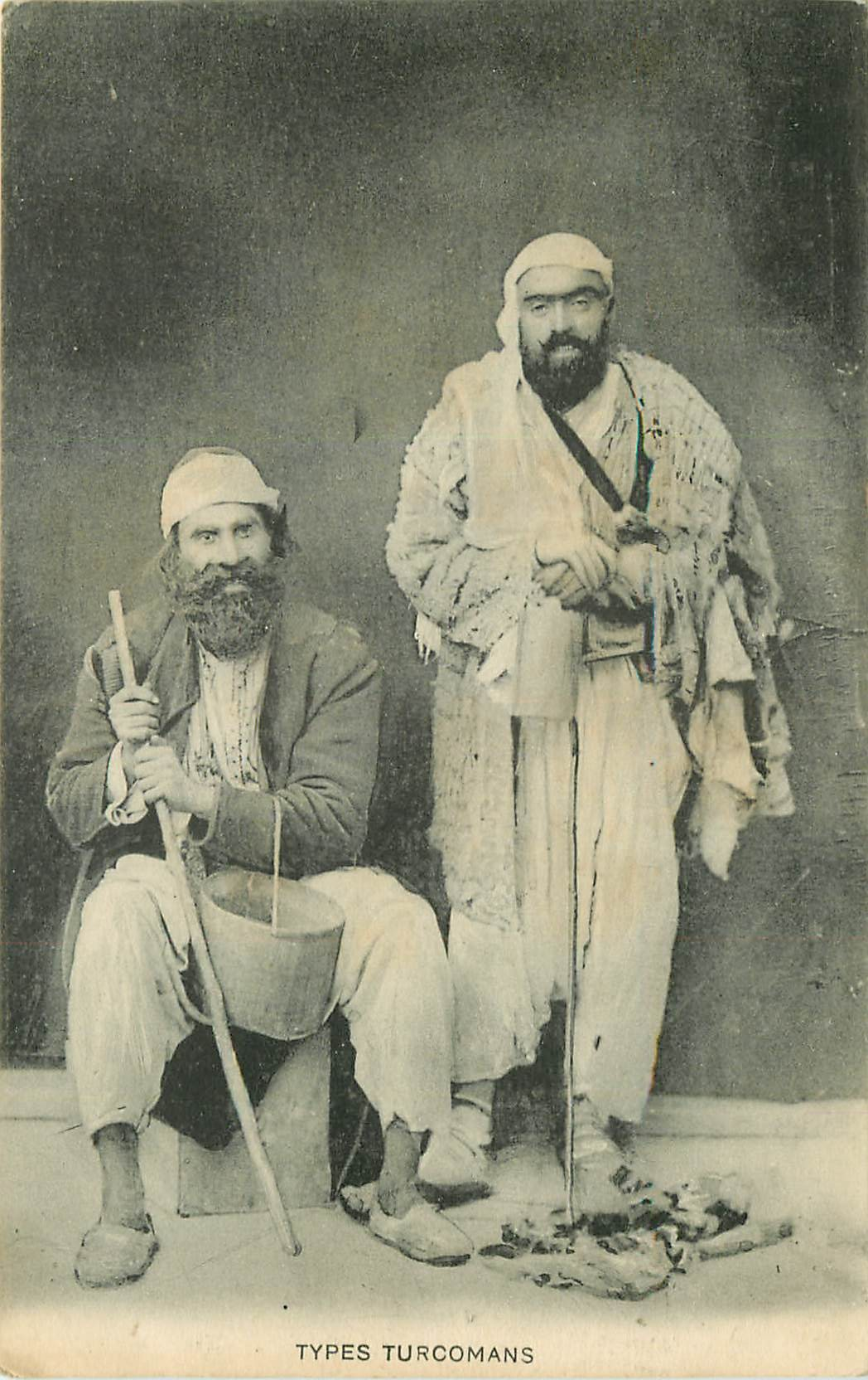 TURQUIE. Types Turcomans 1922
