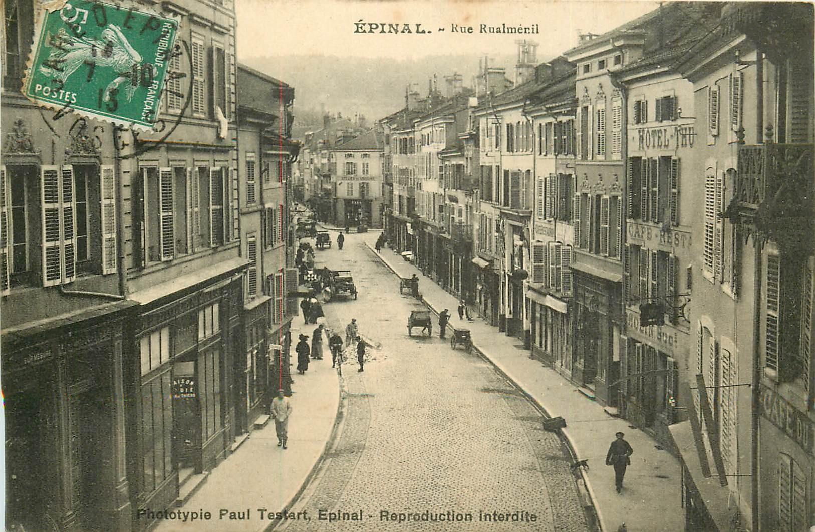 88 EPINAL. Hôtels Cafés Restaurant rue Rualménil 1913