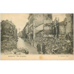 carte postale ancienne 02 SOISSONS. 1914-18 Rue Saint-Antoine 1921