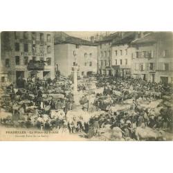 43 PRADELLES. Le Marché aux Bestiaux Place du Foiral 1905
