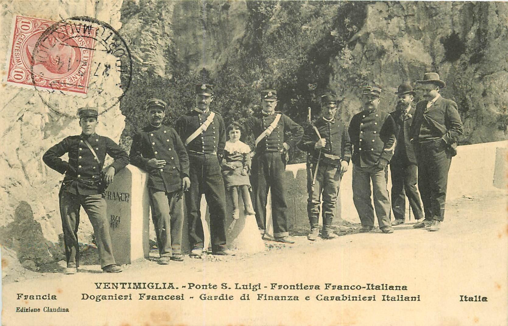 VENTIMIGLIA. Ponte Luigi Doganieri a la Frontiera 1914